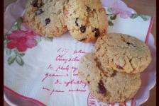 Havrecookies med vit choklad och blåbär